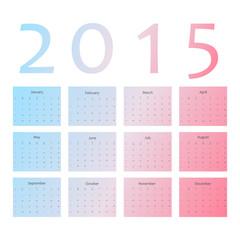 Wall calendar in minimalistic style.