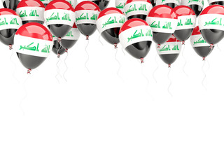 Balloon frame with flag of iraq