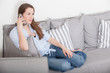 Attractive young woman making a phone call