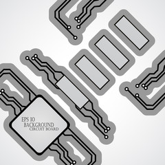 Circuit board cpu. Vector illustration