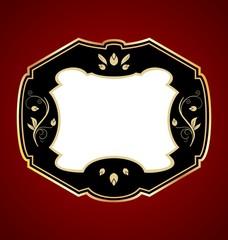 Gold-framed label