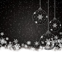 Christmas background with baubles
