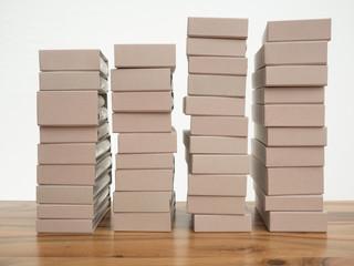 Stapel von Buchhüllen
