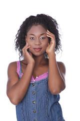 Hübsche junge afrikanische Frau