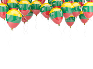Balloon frame with flag of lithuania