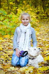 girl with terrier