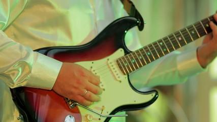 Man Playing Guitar. Close-up