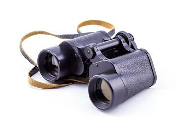 large binoculars on a white background