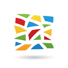 Colorful Mosaic Abstract Icon