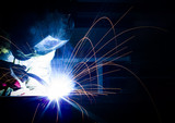 Welding steel structures with sparks