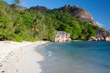 Seychelles - La Digue - Anse Source d'Argent beach