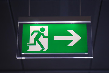 Emergency exit - Stock Image