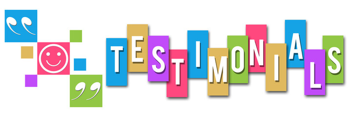 Testimonials Colorful Squares Elements