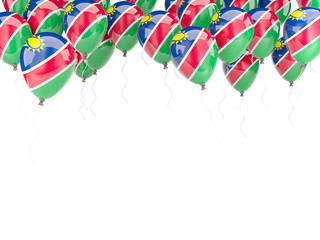 Balloon frame with flag of namibia