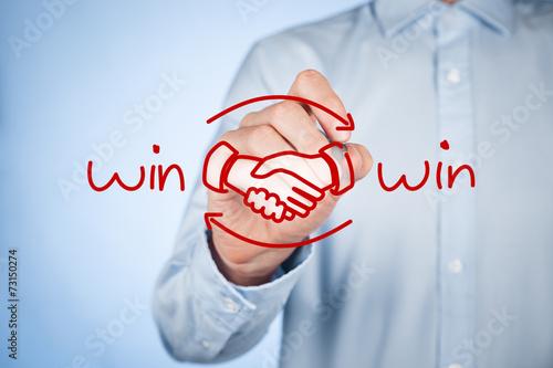 Leinwandbild Motiv Win win strategy