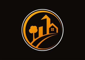 Real Estate vector logo design vector