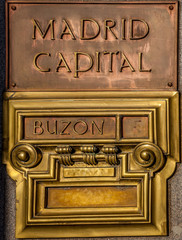 Post office box in Madrid