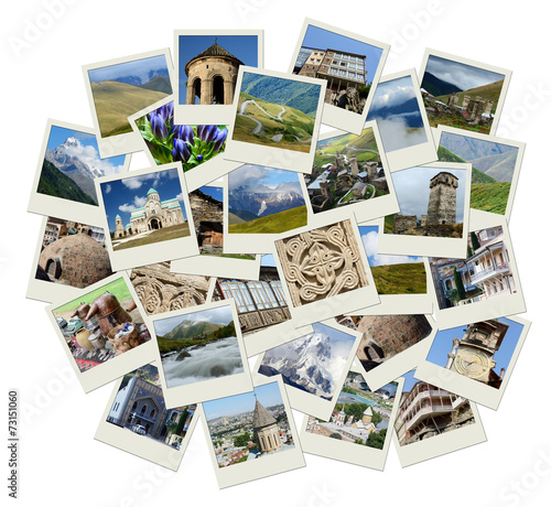 Go Georgia - Central Asia collage with photos of landmarks - 73151060
