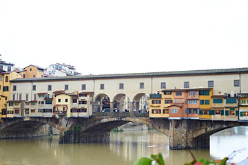 Famous residential bridge in Florence