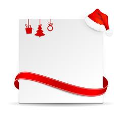 Weihnachten Schild Schleife Mütze
