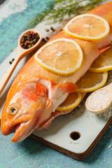 golden trout with lemon