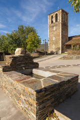 fountain in front of the church