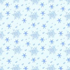 watercolor snowflakes pattern