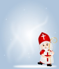 Background with St. Nicholas