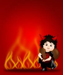 Background with devil