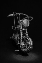 Miniature motorcycle made from wire
