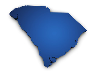 Map Of South Carolina 3d Shape