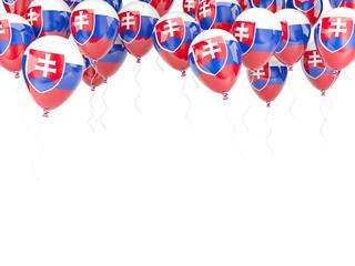 Balloon frame with flag of slovakia