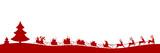 Fototapety Weihnachten Silhouette langer Schlittem