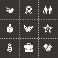Vector black election icons set
