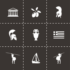 Vector black greece icons set