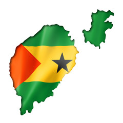 Sao Tome and Principe flag map