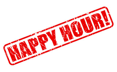 Happy hour red stamp text