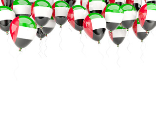 Balloon frame with flag of united arab emirates