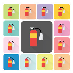 Fire extinguisher Icon color set vector illustration
