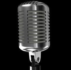 steel vintage microphone