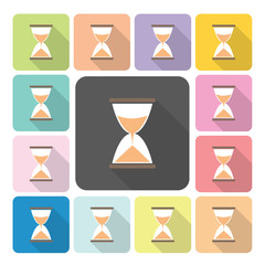 Hourglass Icon color set vector illustration