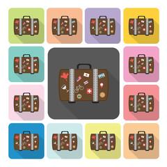 Bag Icon color set vector illustration