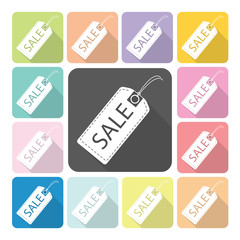 Sale tag Icon color set vector illustration