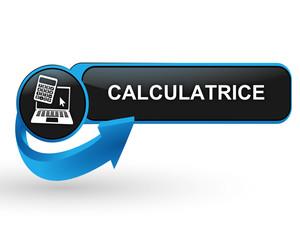 calculatrice sur bouton web design bleu