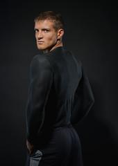 Sporty male model