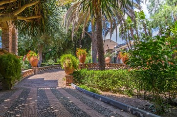 Villa Communale in Taormina, Sicily.