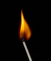 Lighted match