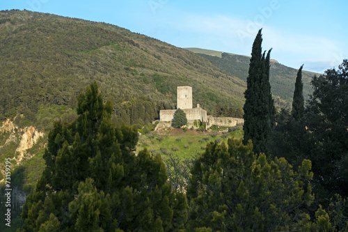 canvas print picture Rocca minore in Assisi