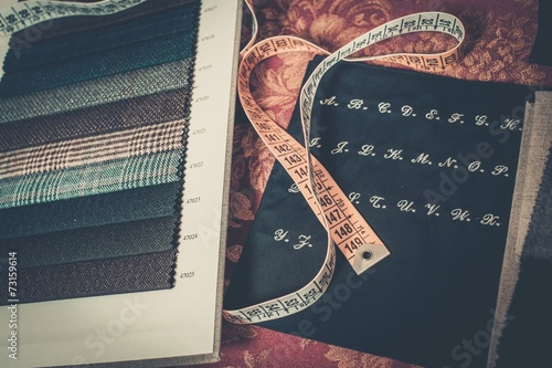 Cloth samples for custom made suits - 73159614