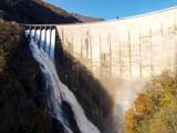 Dam of Contra Verzasca, spectacular waterfalls